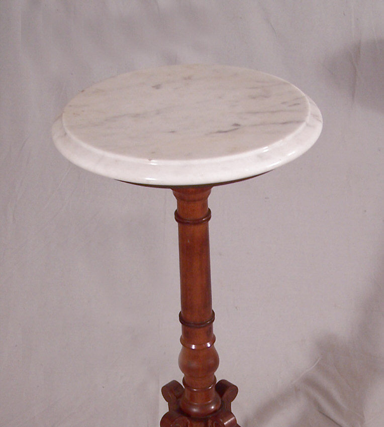 8395 American Victorian Black Walnut Small Marble Top
