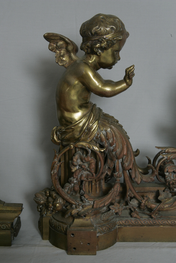 french rococo fireplace 8065 18th century french bronze fireplace chenets for sale