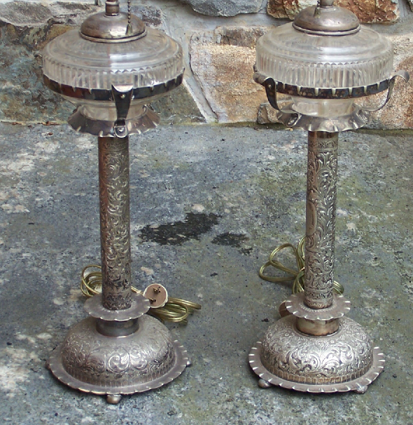 silver plated oil lamps c1880 for sale classifieds. Black Bedroom Furniture Sets. Home Design Ideas