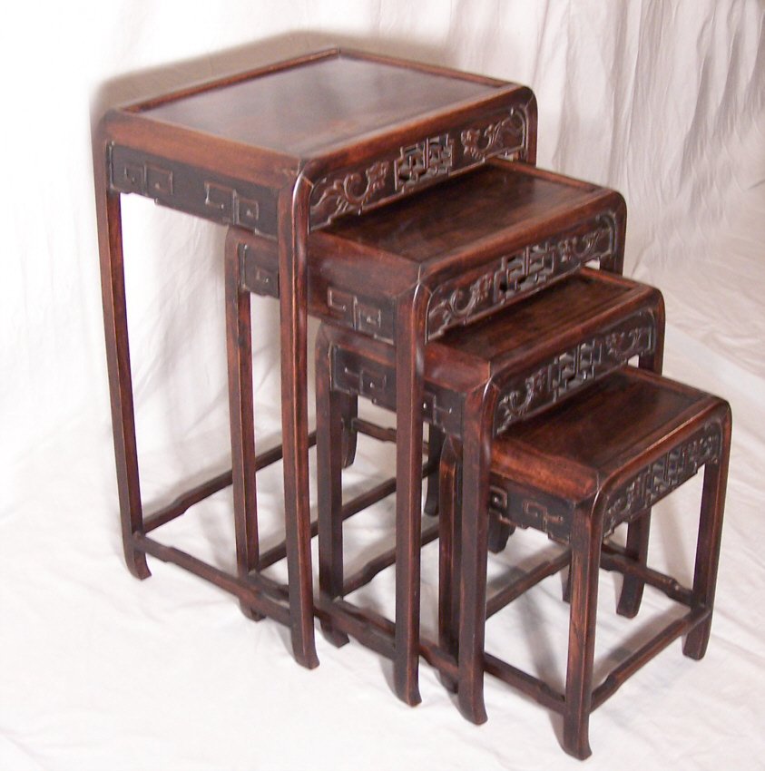 Delicieux Amazing 9184 Antique Set Of 4 Chinese Stacking Tables Circa 1870 For Sale |  Antiques.