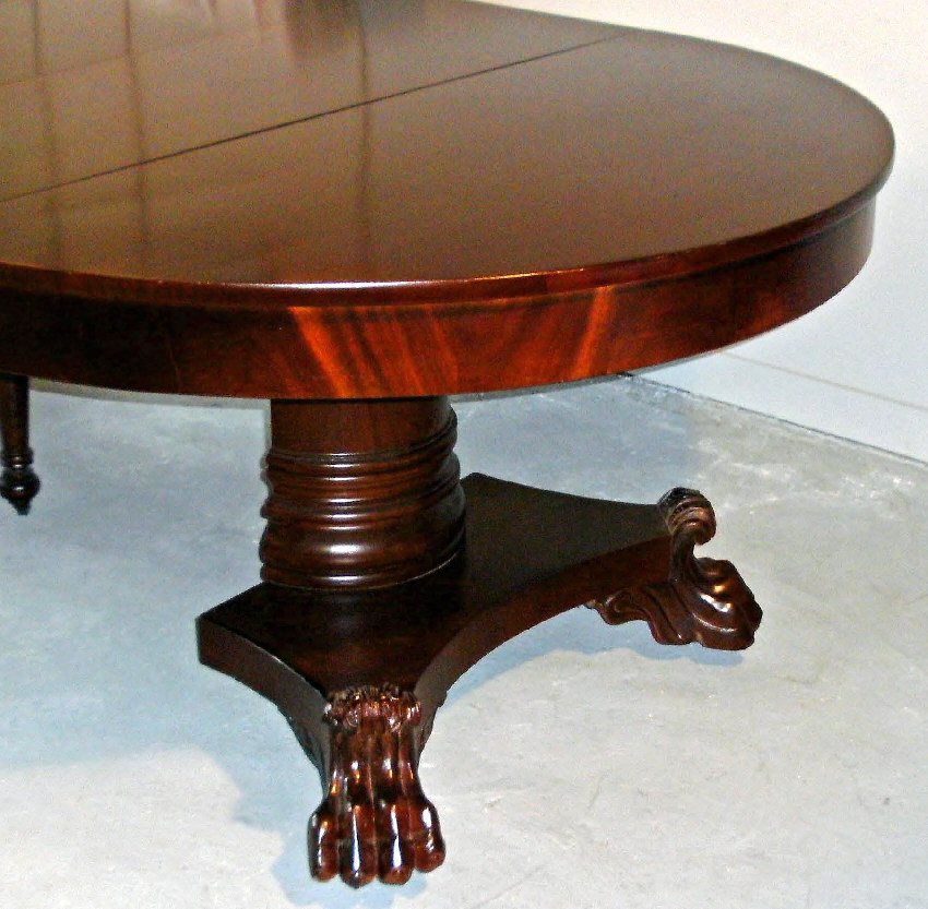 7893 American Empire Period Mahogany Dining Table C1825
