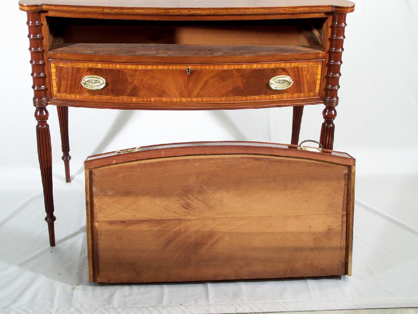 7788 Centennial Boston Federal Style Cookie Corner Sideboard C1880 For Sale