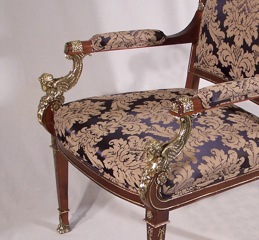 8144 Neoclassical French Empire Period Armchair For Sale