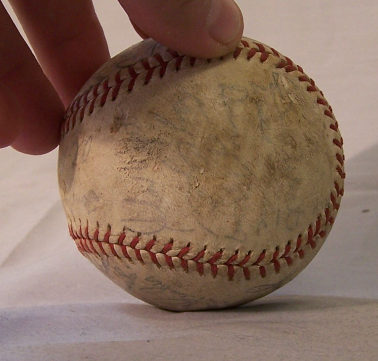 8242 Detroit Tigers 1938 World Series Game Baseball For