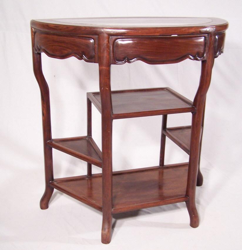 28 antique half round table painted mahogany half round con