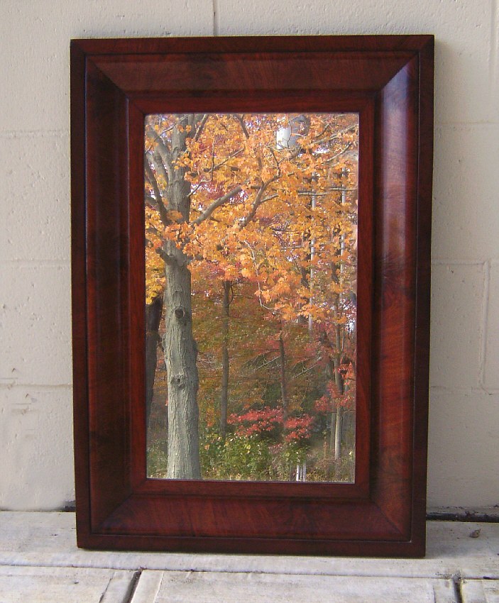 American federal og mahogany looking glass mirror c1825 for Looking mirror