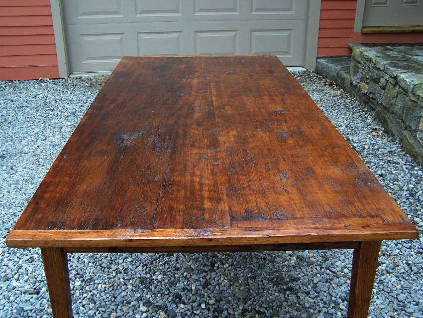 7784 Handmade New England pine country kitchen table For Sale ...