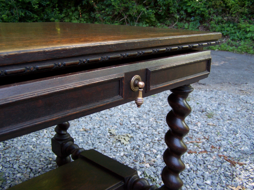 J B Van Sciver Co Camden Nj Oak Library Desk C1900 This Was Made From Solid Quarter Sawn Tiger And Retains Its Original Finish