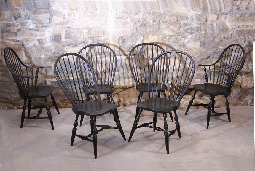 antique windsor dining chairs for sale. 9163 vintage set of six early american country windsor chairs in black made by the warren antique dining for sale