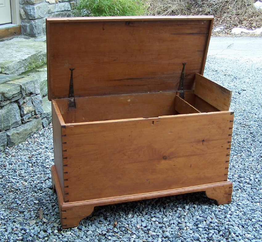 8034 Early American Pine Blanket Chest C1760 For Sale