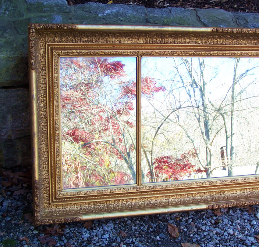8299 American Federal Gold Leaf Over Mantel Mirror C1830