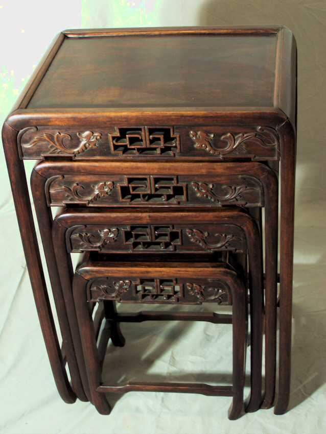 9184 Antique Set Of 4 Chinese Stacking Tables Circa 1870 For Sale |  Antiques.com | Classifieds