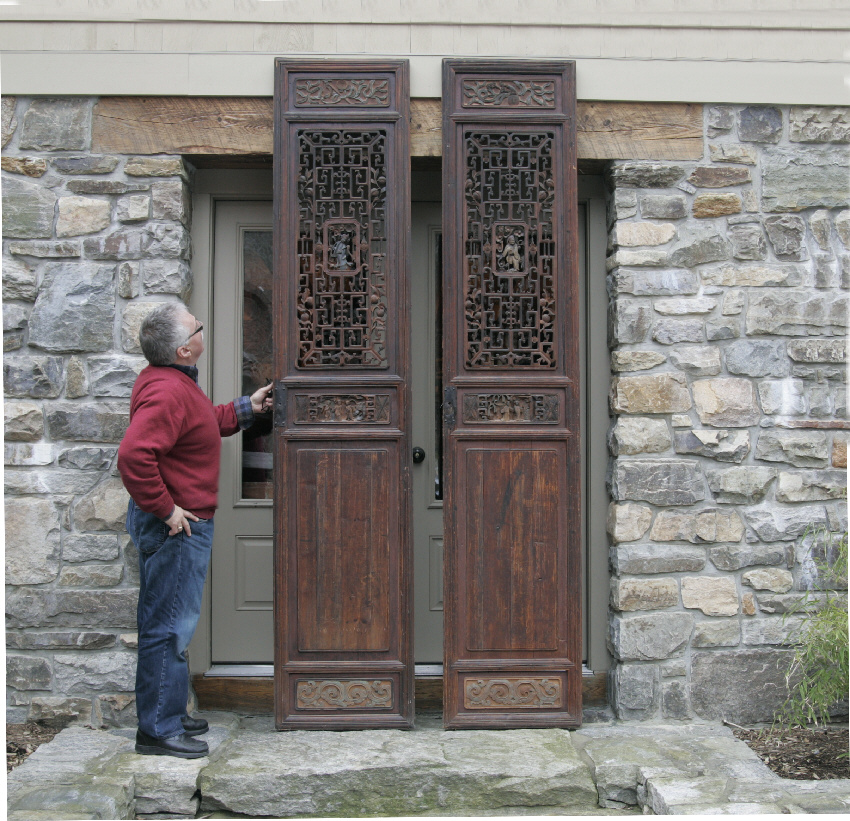 Ordinaire Pair Of Chinese Hand Carved Wood Temple Doors C For Sale With Chinese Doors.