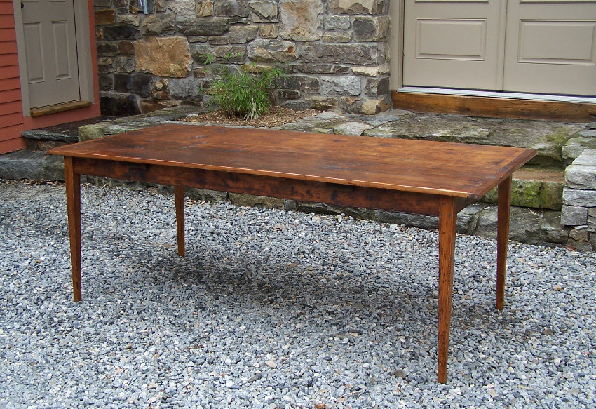 7784 Handmade New England pine country kitchen table For ...