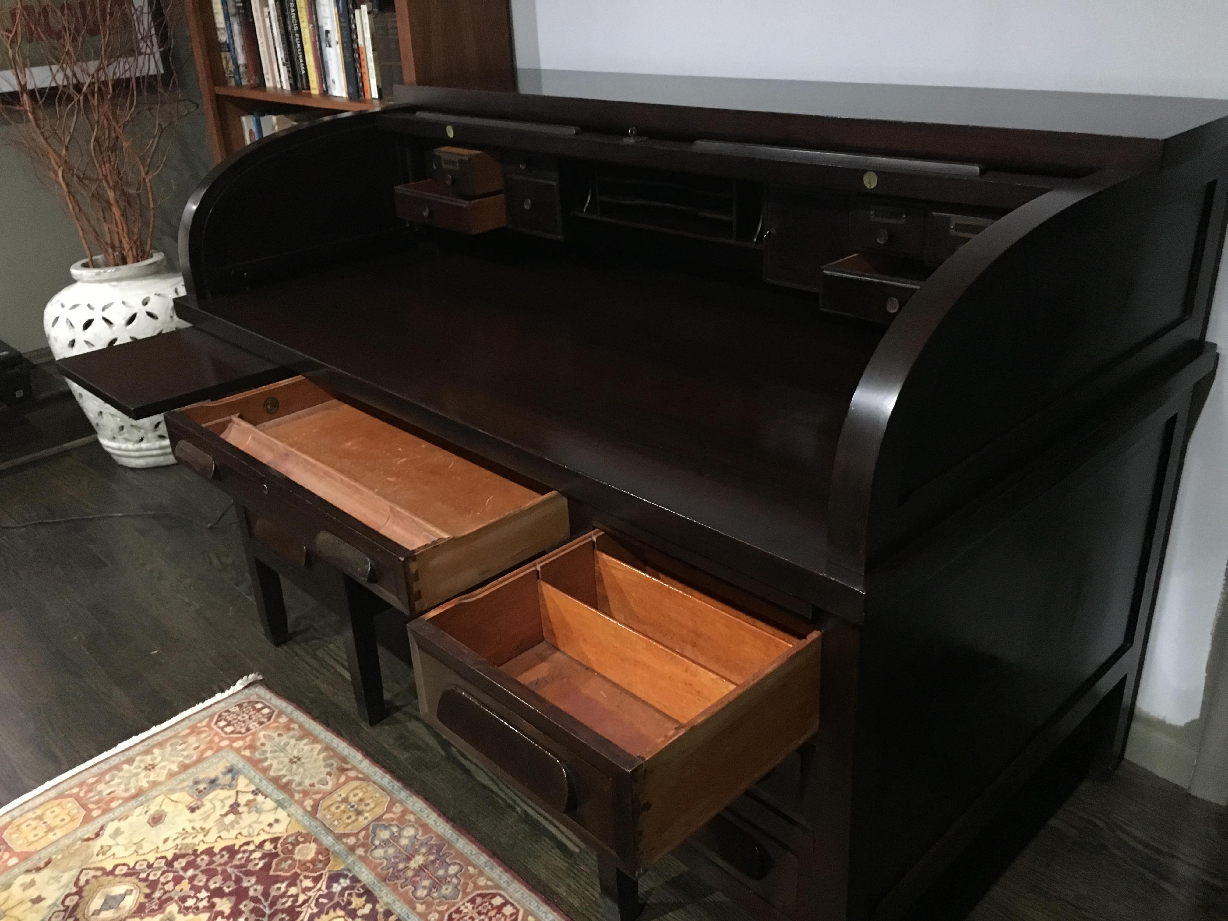 vintage mahogany roll top desk for sale antiques