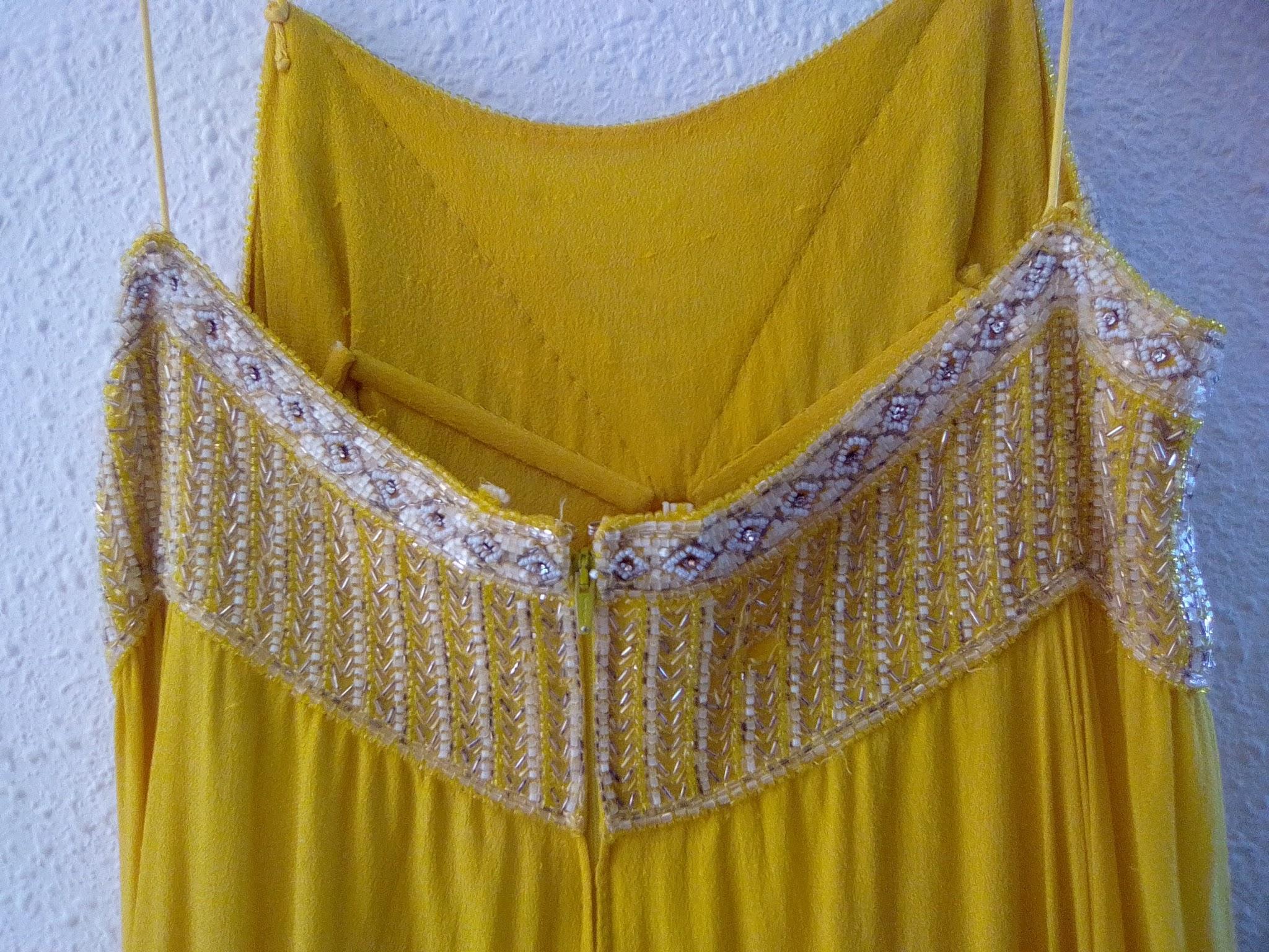 Vintage Nina Ricci Original Patron Yellow Gown For Sale