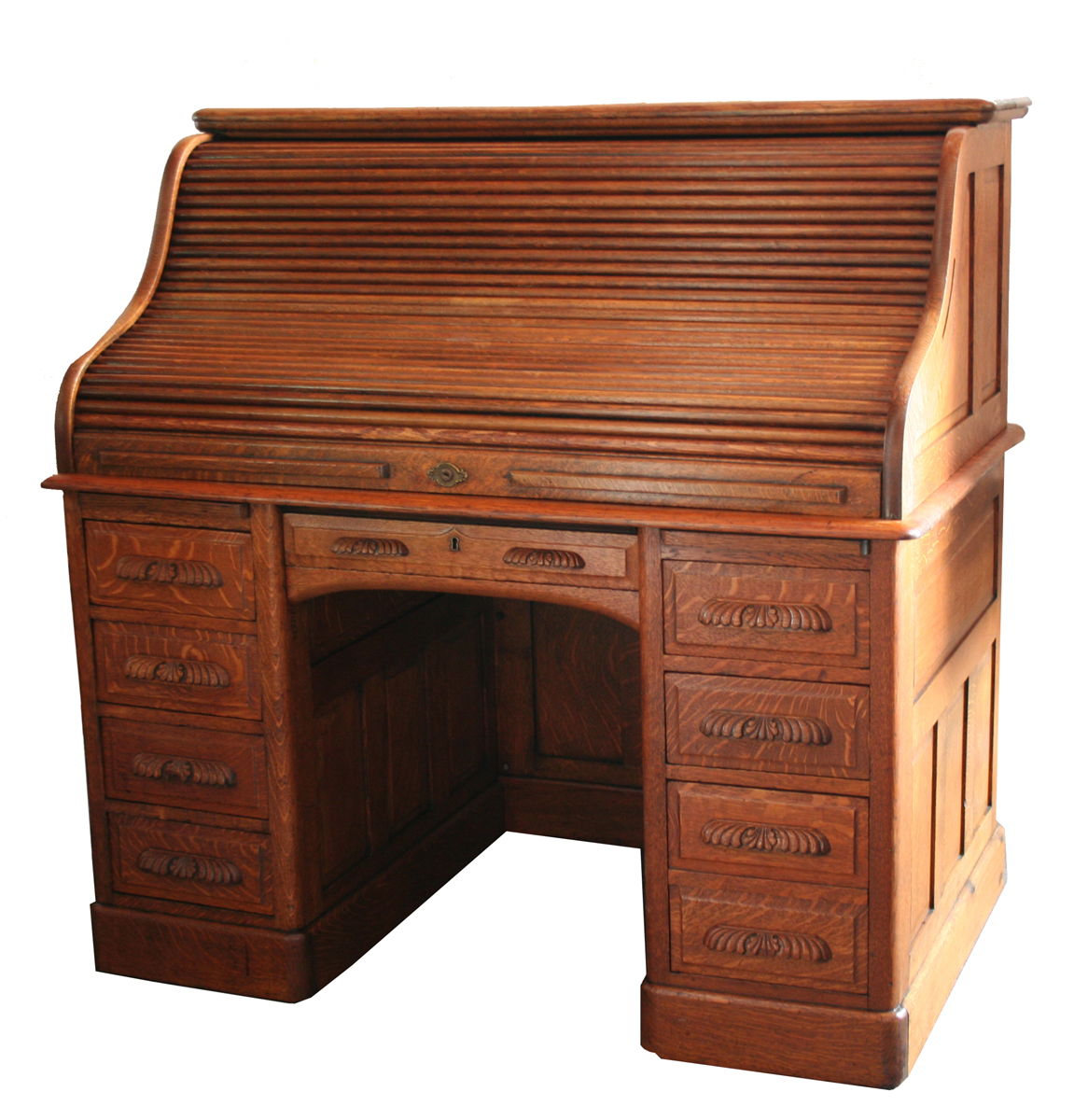 Oak Roll Top Desk For Sale | Antiques.com | Classifieds
