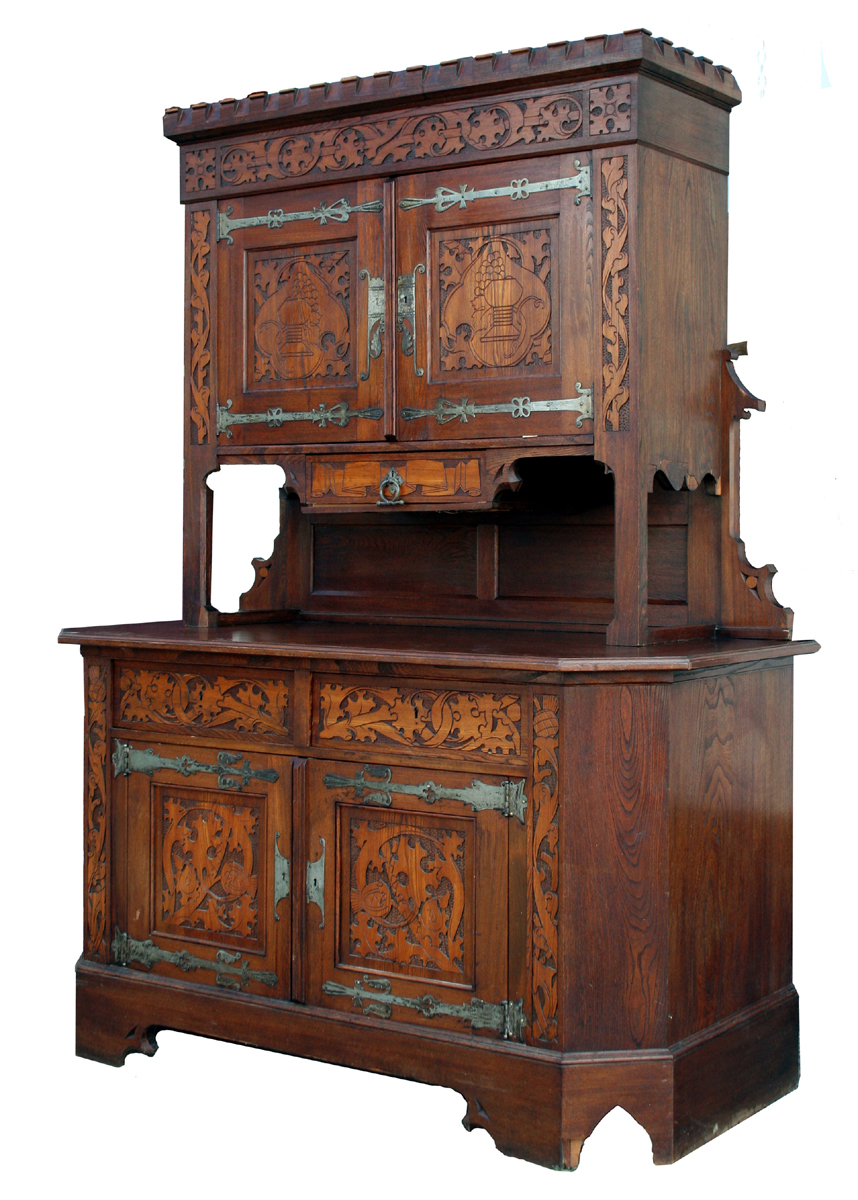 Antique gothic oak cabinet for sale antiquescom for Antique furnishings