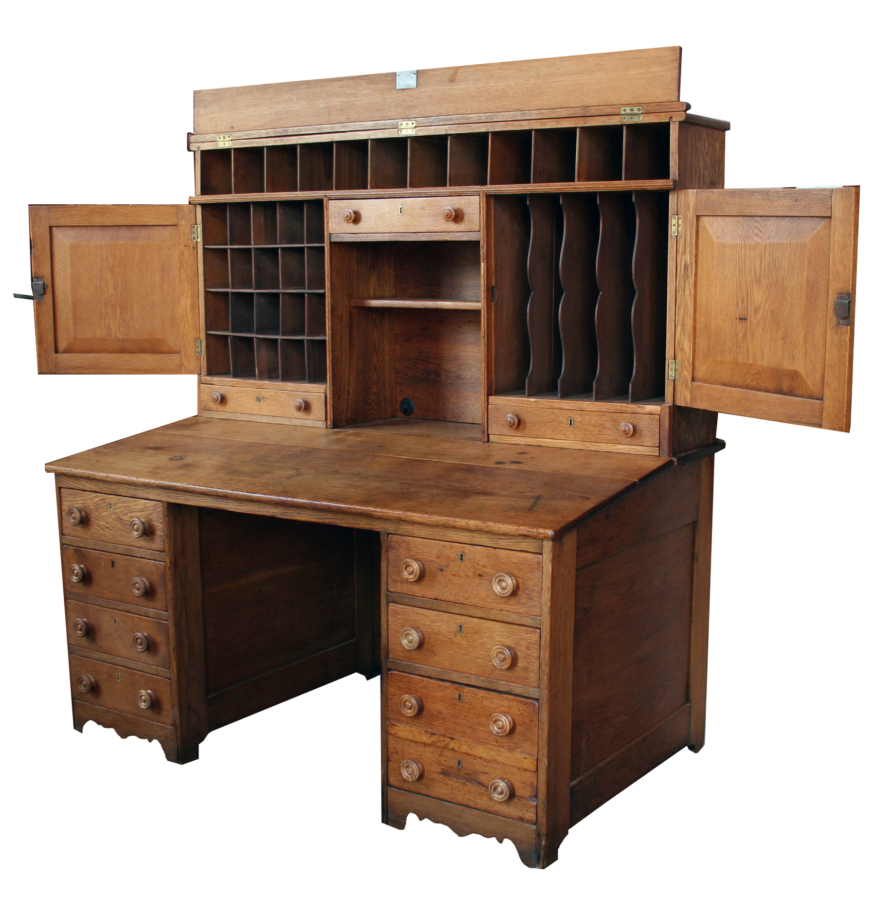 Oak postal desk for sale antiquescom classifieds for Antique furniture desk