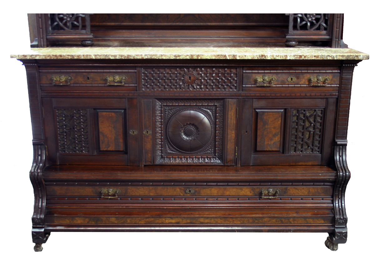Antique Victorian Sideboard For Sale