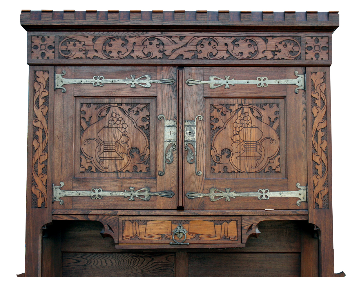 Antique Gothic Oak Cabinet - For Sale - Antique Gothic Oak Cabinet For Sale Antiques.com Classifieds