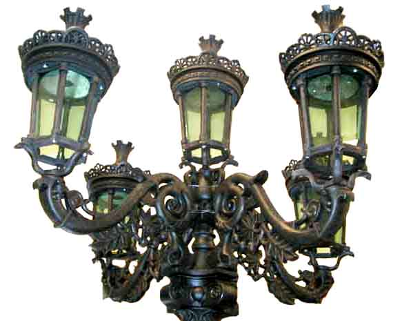 cast iron 5 lamp street lights for sale classifieds. Black Bedroom Furniture Sets. Home Design Ideas
