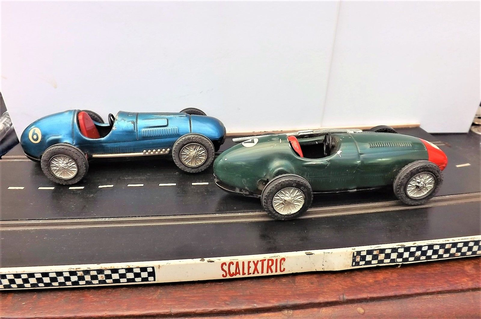 Scalextric Vintage racing car\'s 2 50\'s tin plate rare cars For Sale ...