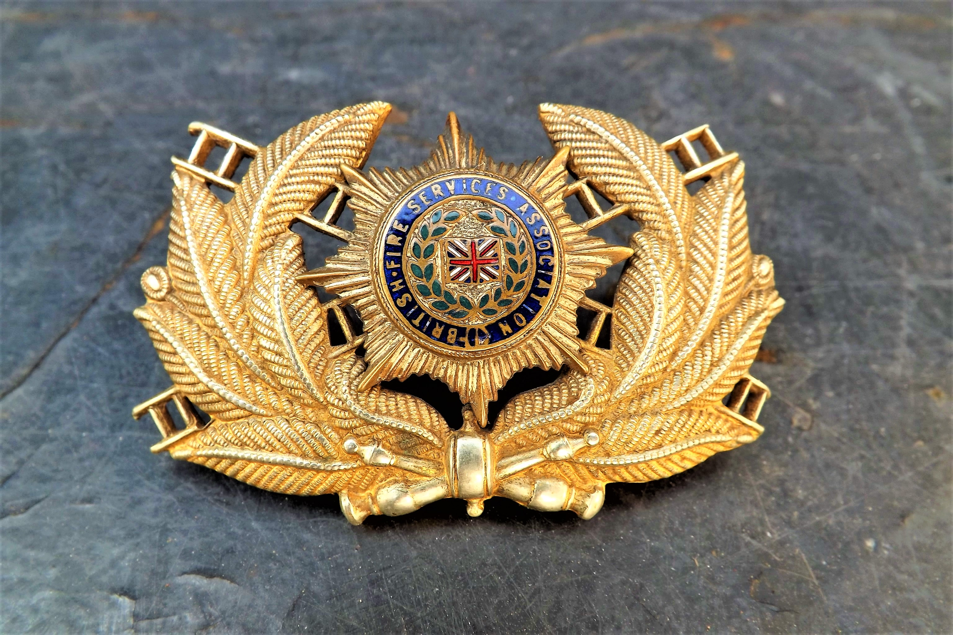 British Fire Services Association Cap Badge Extremely Rare