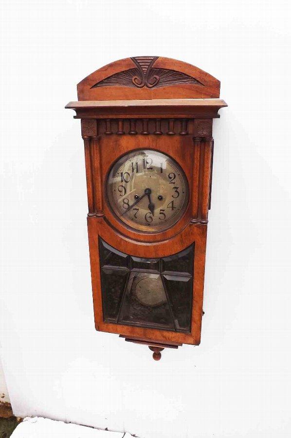 Edwardian walnut cased antique wall clock for sale for Antique wall clock for sale