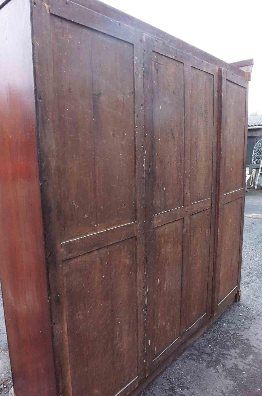victorian mahogany breakfront wardrobe for sale antiques. Black Bedroom Furniture Sets. Home Design Ideas