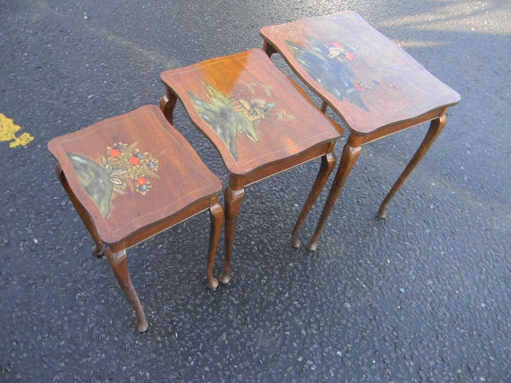 Nest of tables hand painted in the chinese style for sale for Chinese style furniture for sale