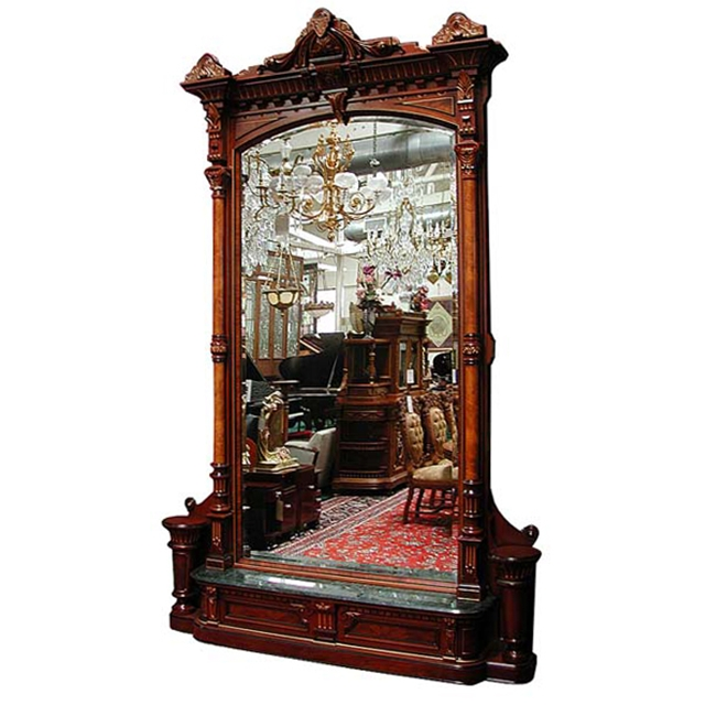 Victorian Foyer News : Antique american walnut hall mirror by herter brothers for