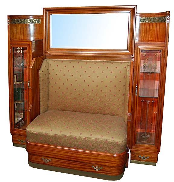 spectacular art nouveau couch