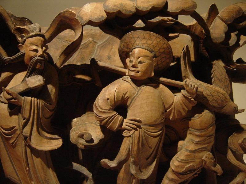 Antique chinese wood carving cm high long for sale