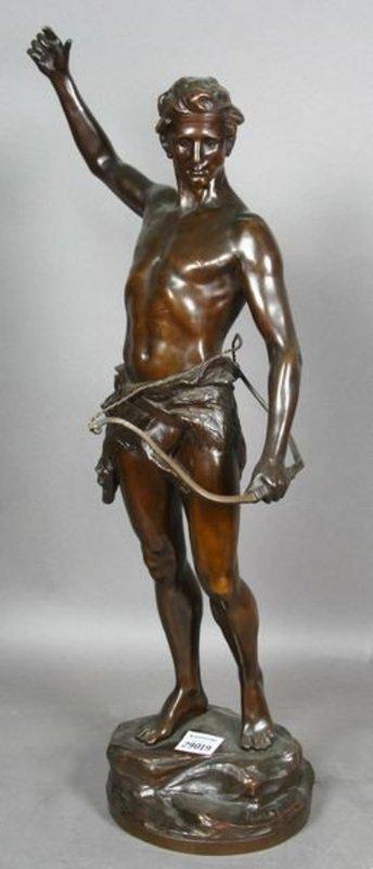 Rudolph Kuchler Bowman Bronze Sgnd For Sale Antiques