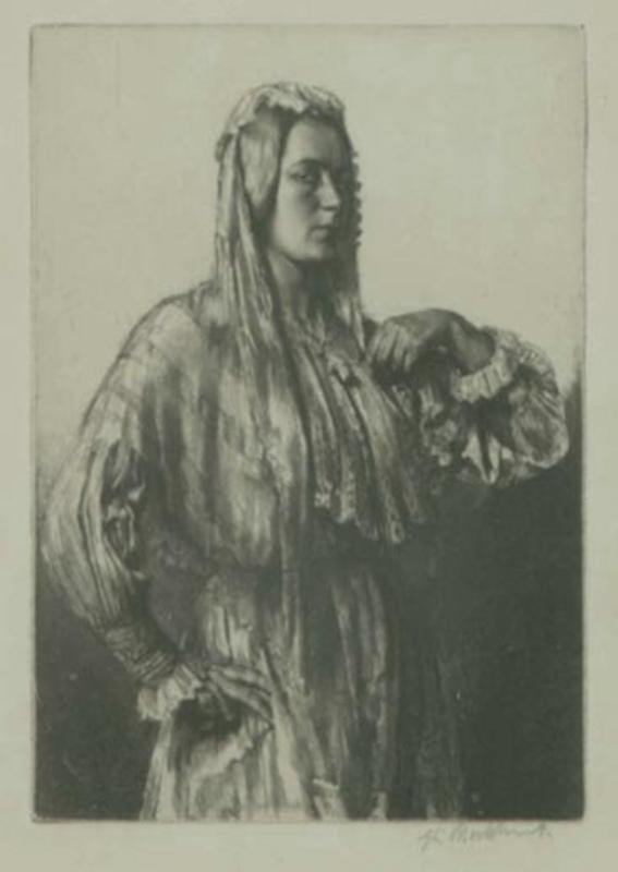 Gerald brockhurst british 1890 1978 etching almina image size