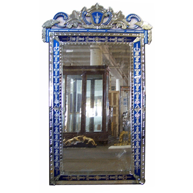 Spectacular Antique Blue French Venetian Wall Mirror For Sale Antiques Com Classifieds