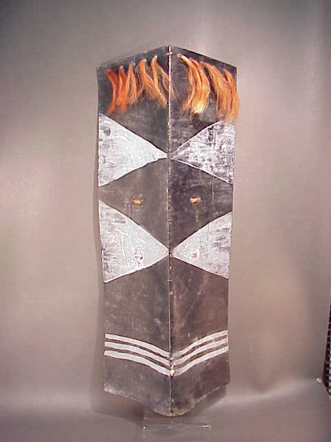 Leather and Pigment Shield, Naga People India For Sale | Antiques