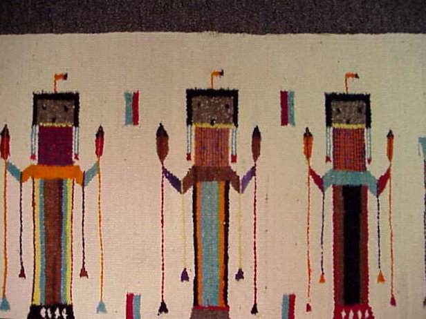 A Mid Century Navajo Yei Rug For Sale Antiques Com