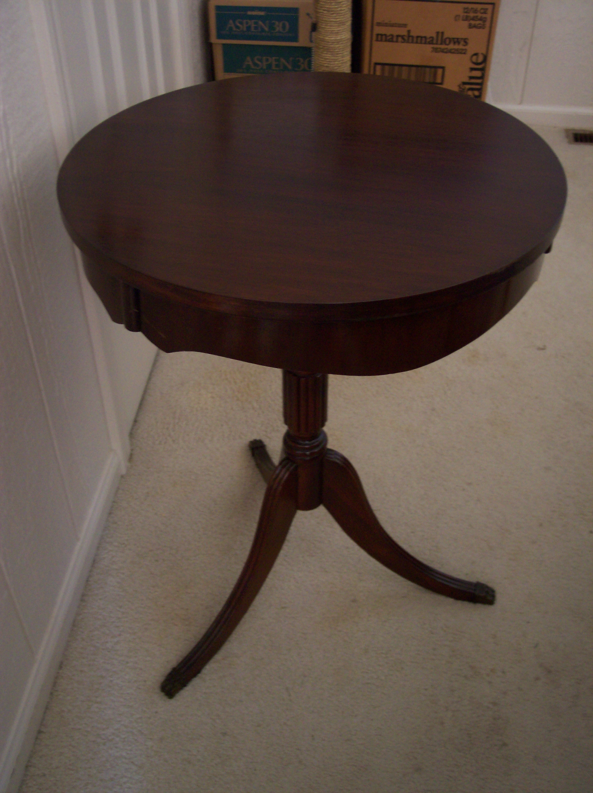 Antique Round Pedestal Side Table For Sale Antiques Com
