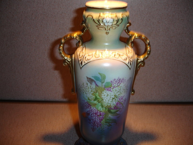 Royal Bonn German Porcelain Vase Mehlem Mark For Sale