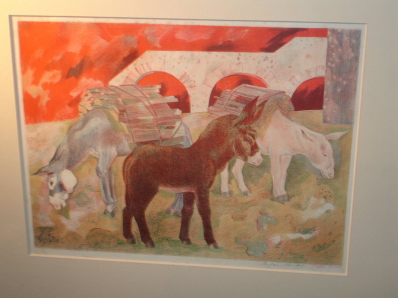 Stefan Hirsch stefan hirsch framed and signed lithograph 3 donkeys for sale antiques com classifieds
