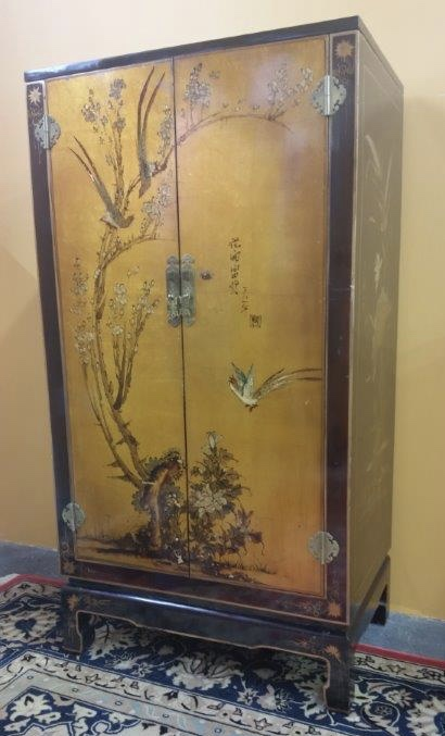 Hand Painted Tall Chinese Cabinet For Sale Antiques Com