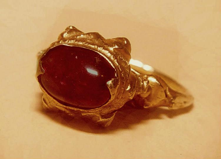 rare ancient pyu gold ruby ring 100