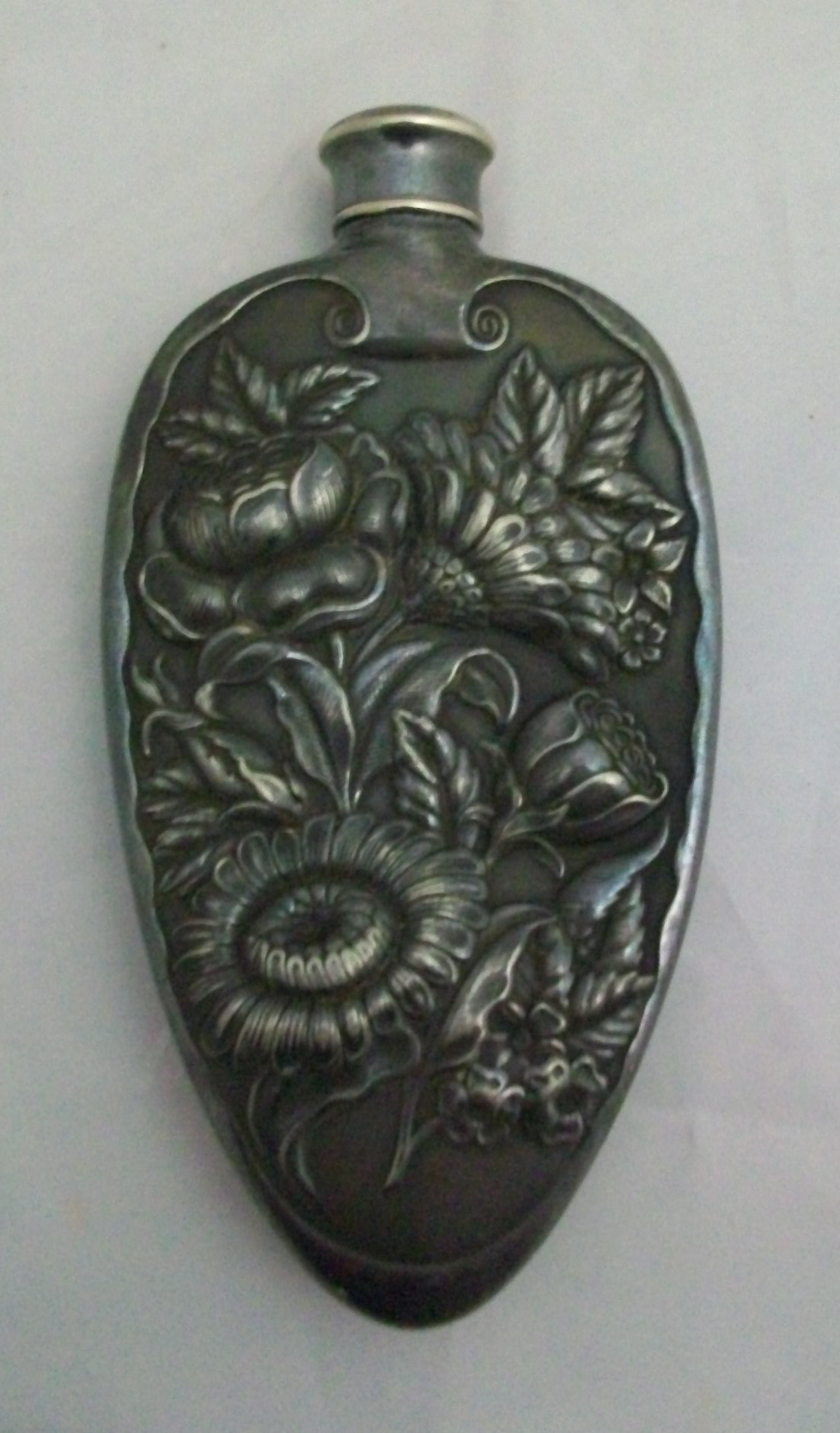 Art Nouveau Silver Flask For Sale Antiques Com Classifieds