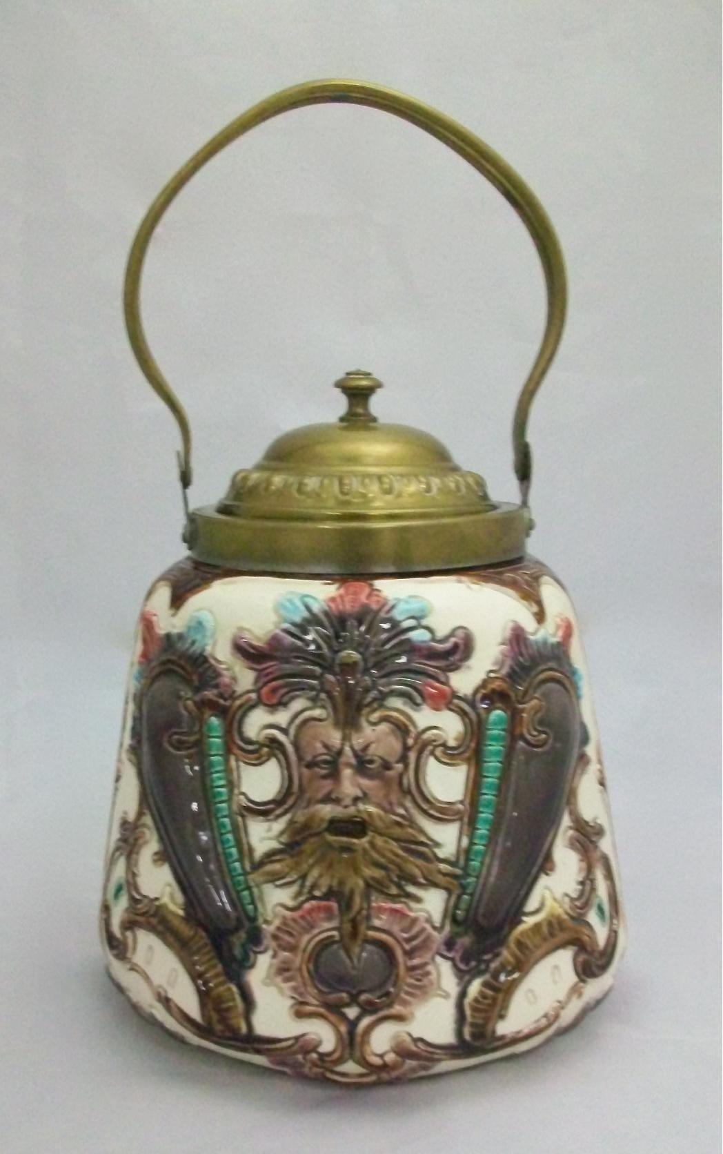 Majolica Cracker Jar For Sale Antiques Com Classifieds
