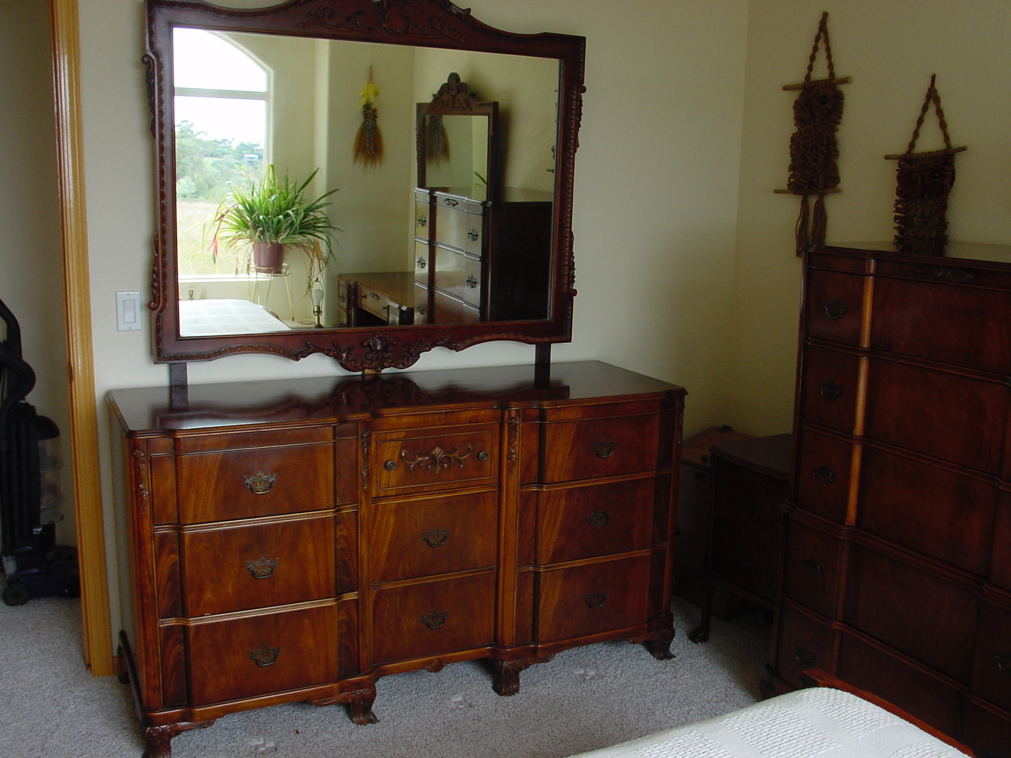 Chippendale revival circa 1940 5 pc bedroom set for sale for Bedroom sets for sale