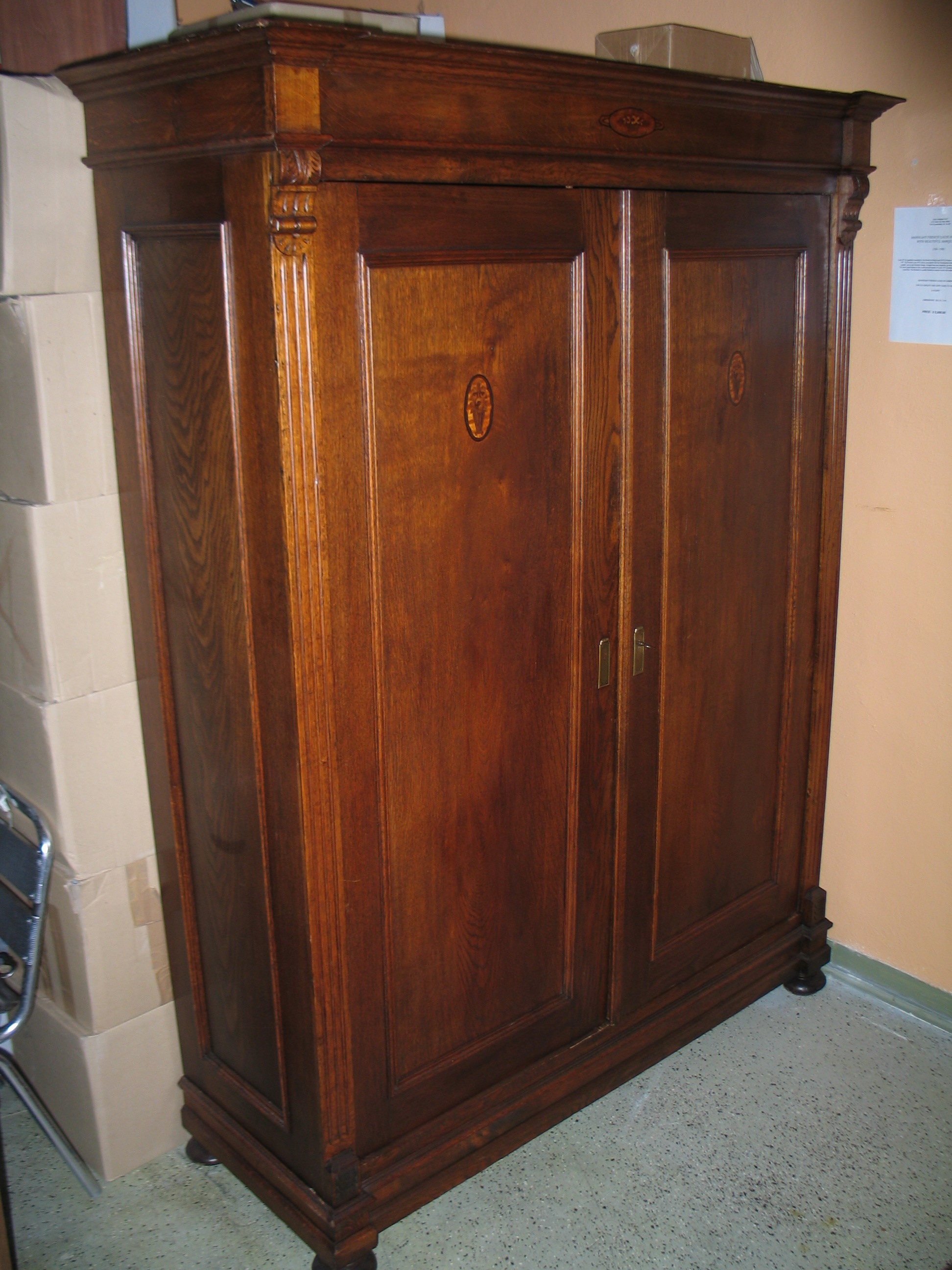 Burled Walnut Napoleon III French Armoire For Sale ...