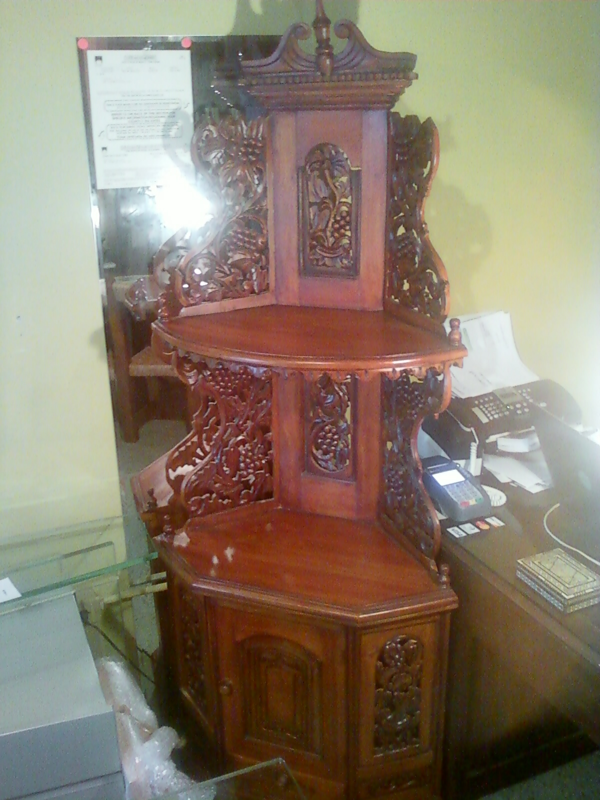 Beautiful Corner Cabinet Commode From Indonesia For Sale