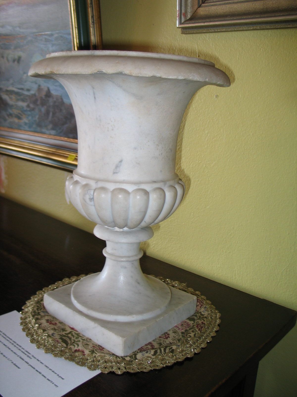 Antique well made italian genuine white marble urn planter antique well made italian genuine white marble urn planter heavy bud vase entry art decor for sale reviewsmspy